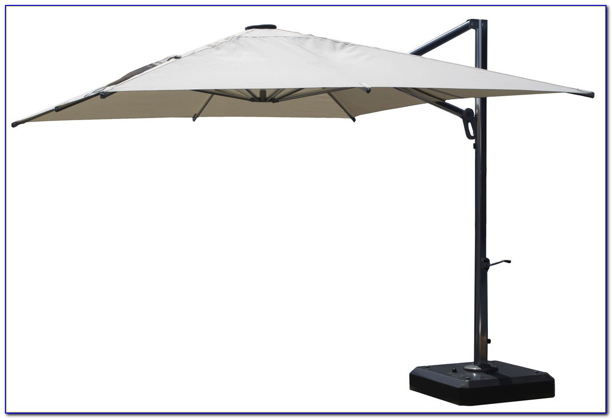 Offset Patio Umbrella With Base