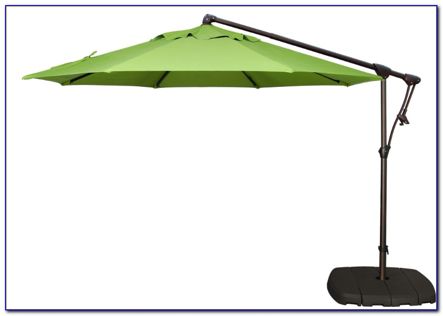 Offset Patio Umbrella With Lights