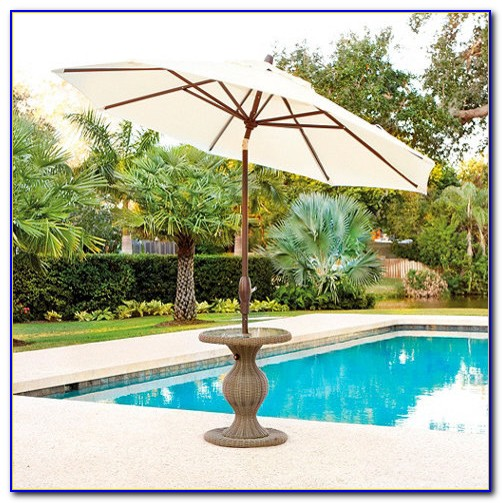 Offset Patio Umbrella With Stand