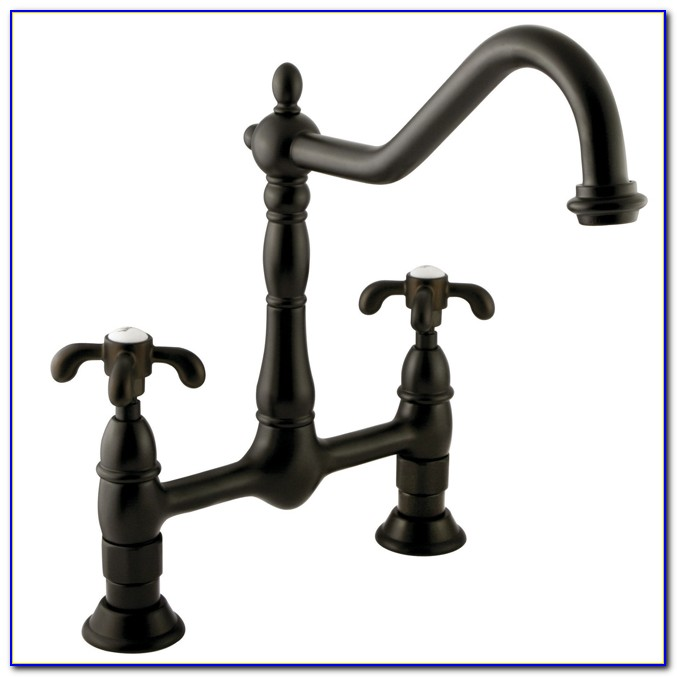 Oil Rubbed Bronze Kitchen Faucet With Stainless Steel Appliances
