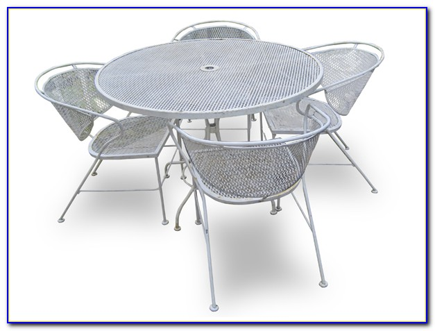 Old Wrought Iron Patio Furniture