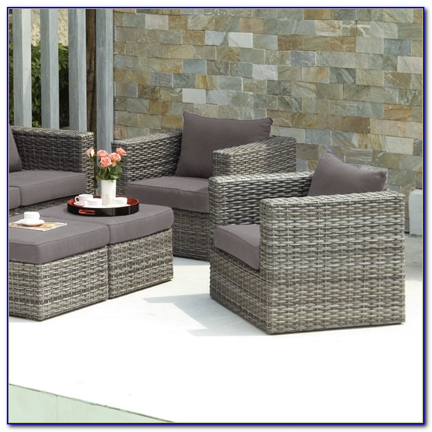Outdoor Patio Chair With Ottoman