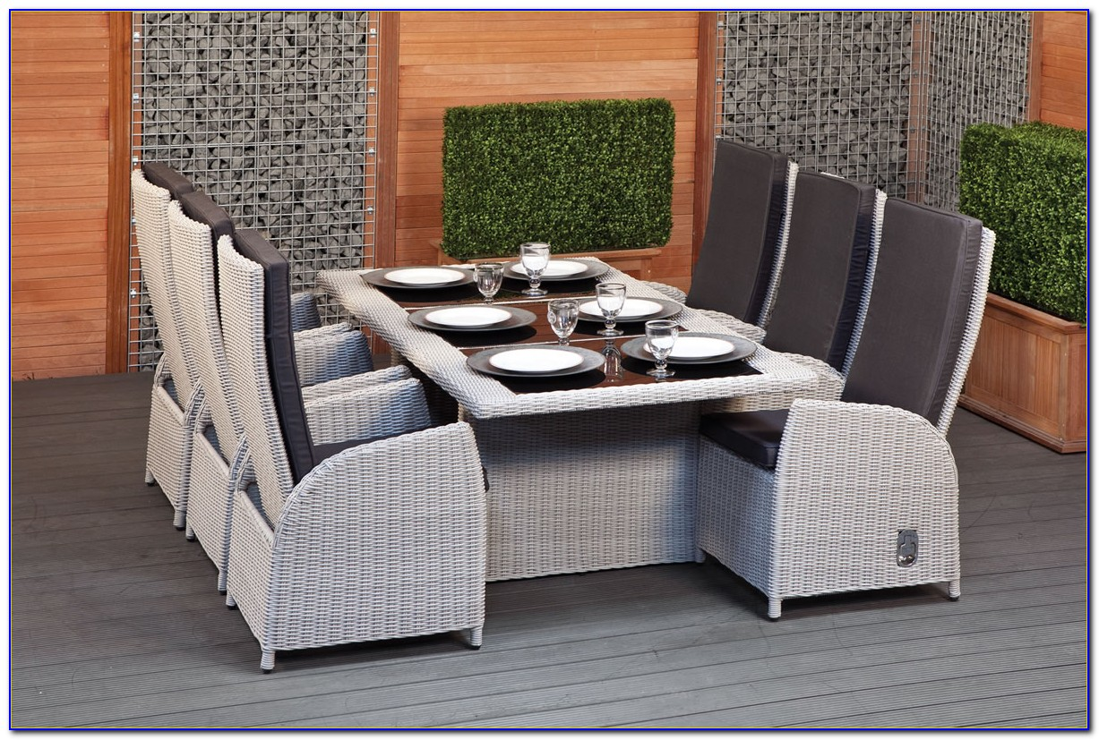 Outdoor Wicker Dining Sets White