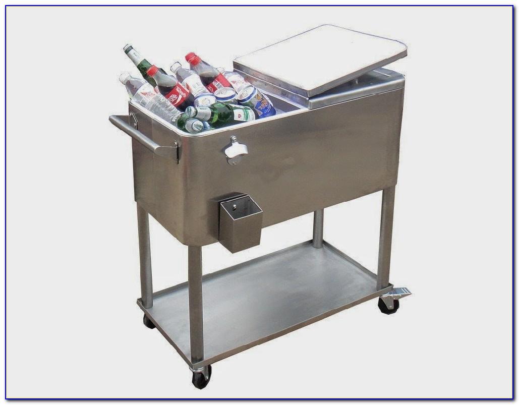 Patio Cooler Cart On Wheels