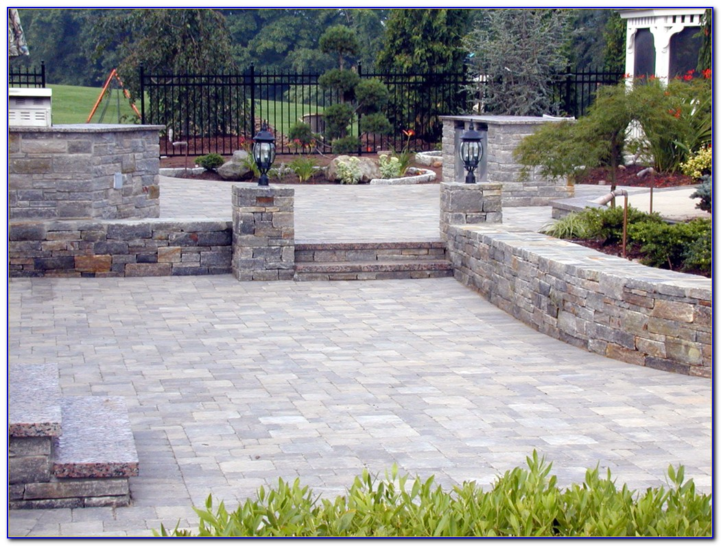 Patio Paver Stone Installation