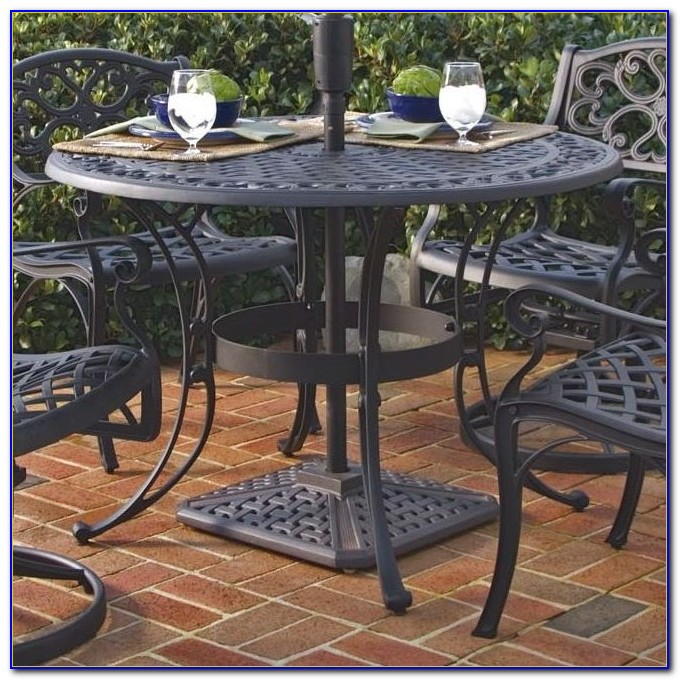 Patio Table Cover With Umbrella Hole Zipper
