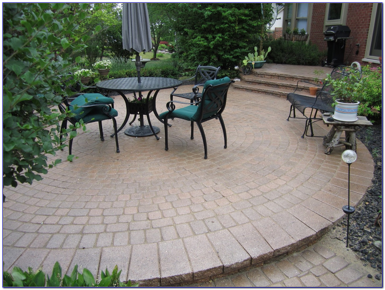 Paver Stone Patio Designs