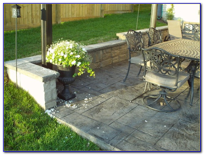 Pouring Concrete Patio Next To Foundation