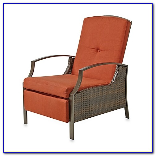 Reclining Patio Chair With Cup Holder
