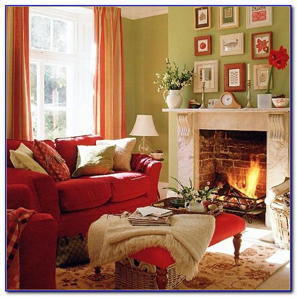 Red Sofa Living Room Pinterest