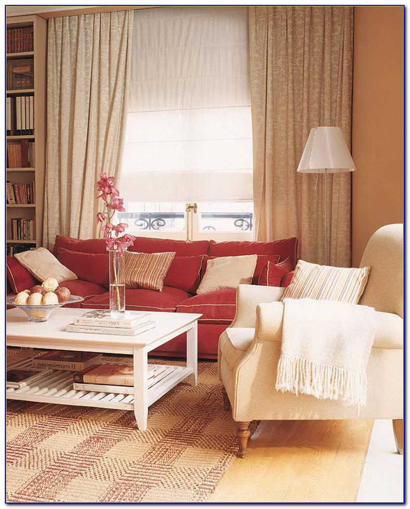 Red Sofa Modern Living Room