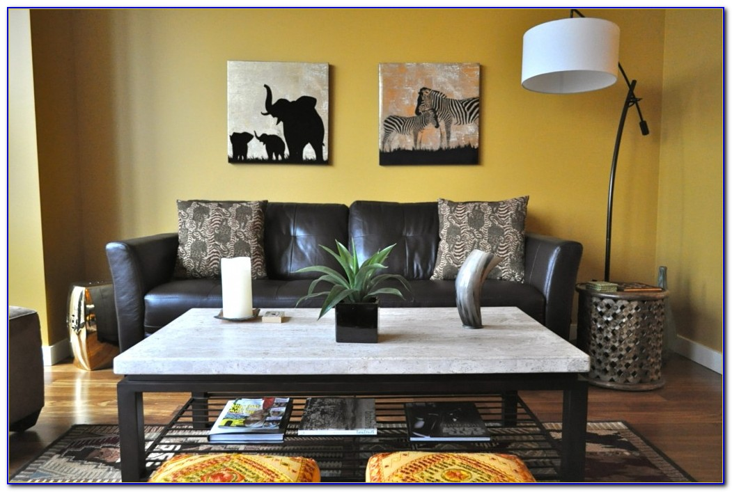 Safari Inspired Living Room Decorating Ideas
