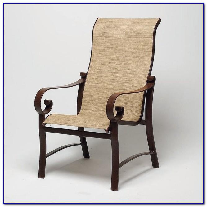 Sling Back Swivel Patio Chairs