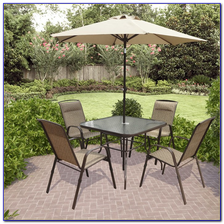 Small Patio Dining Sets With Umbrella