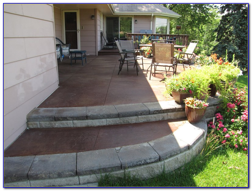 Staining Concrete Patio Diy