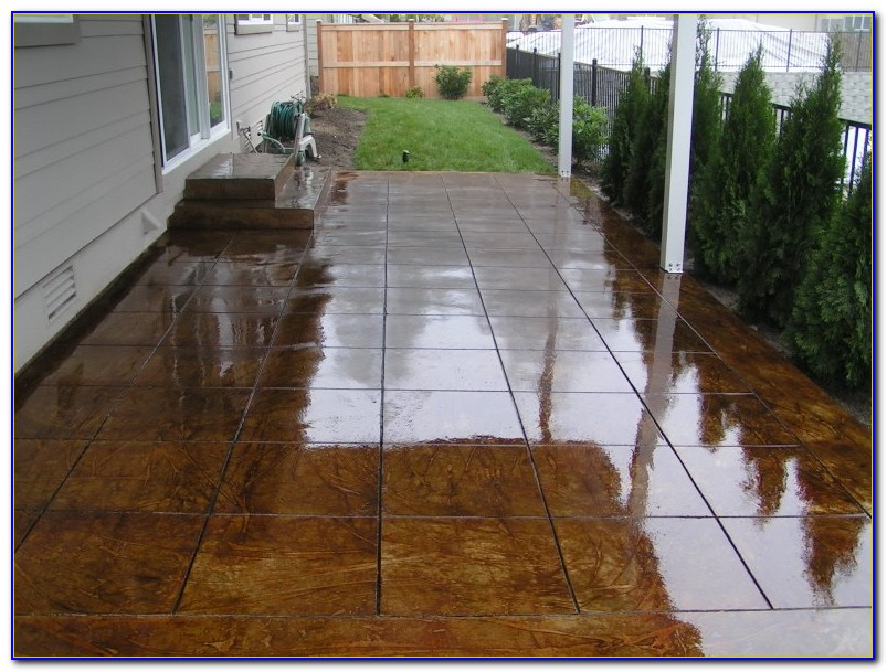 Staining Concrete Patio Do It Yourself