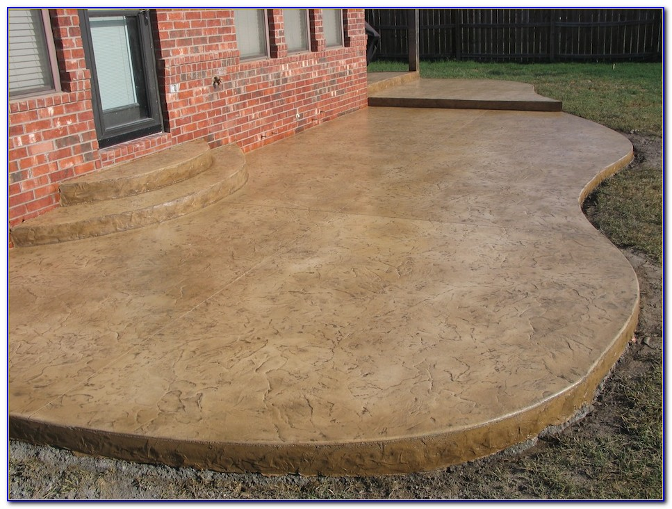 Staining Concrete Patio Youtube