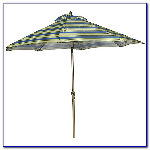 Striped Patio Umbrella 9 Ft