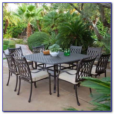 White Cast Aluminum Patio Dining Sets