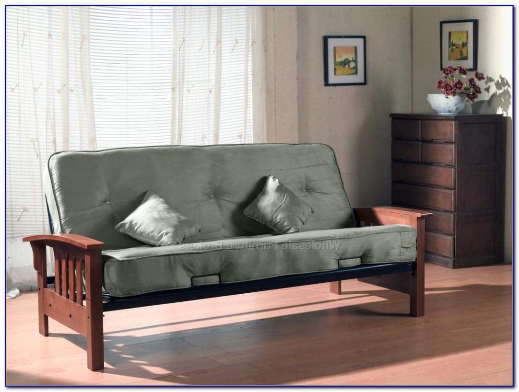 White Futon Living Room Set
