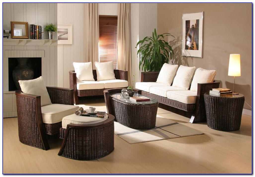 White Rattan Living Room Furniture