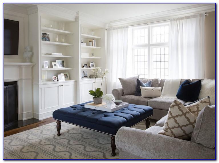 White Tufted Living Room Set