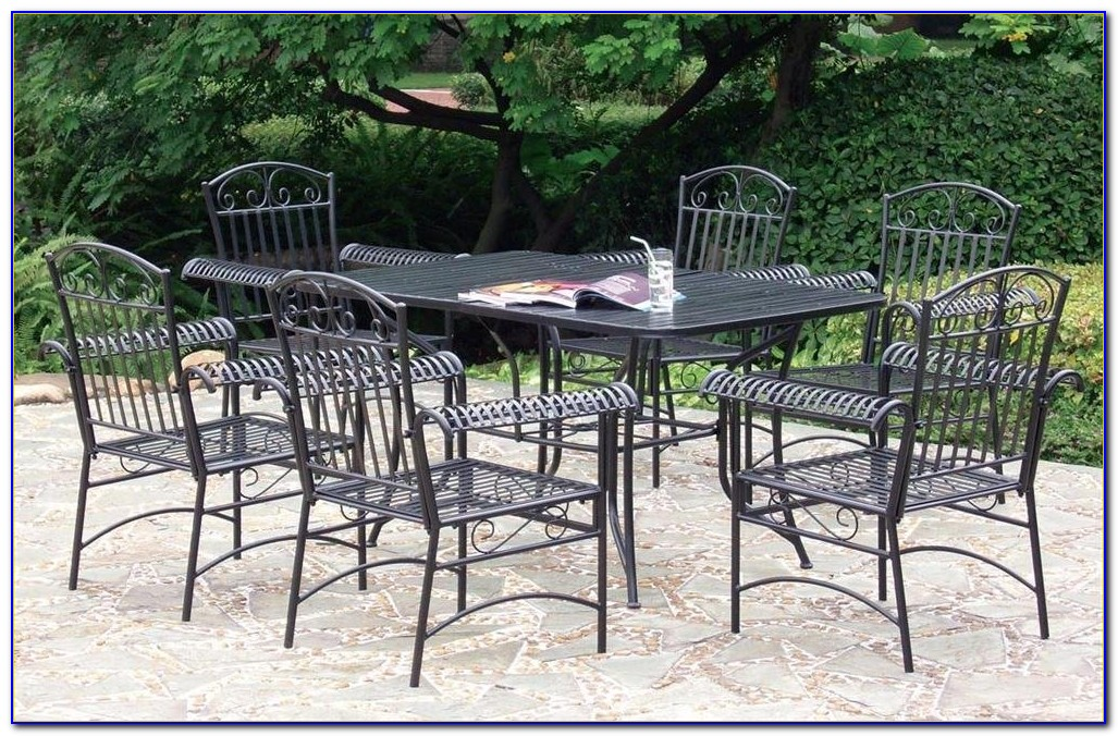 Wrought Iron Patio Furniture Set