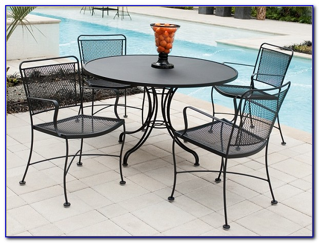 Wrought Iron Patio Set Used