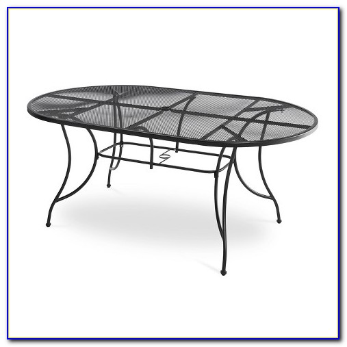 Wrought Iron Patio Table Oval