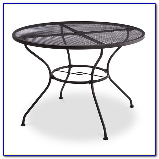Wrought Iron Patio Table Set