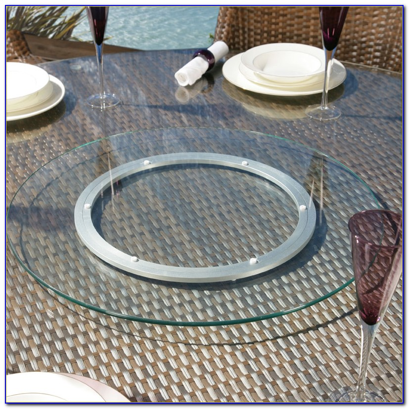 Acrylic Lazy Susan For Patio Table With Umbrella