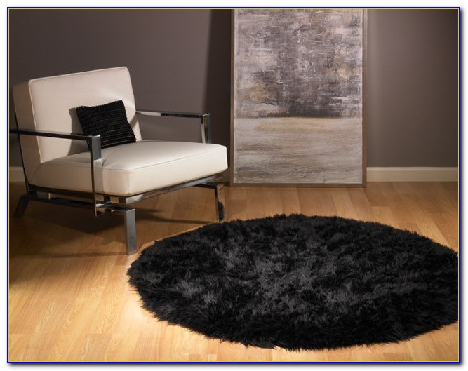 Black And White Furry Rugs