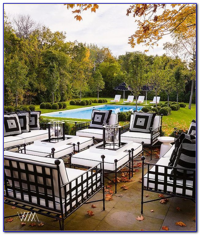 Black And White Outdoor Patio Cushions
