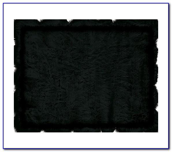 Black Furry Rug Target