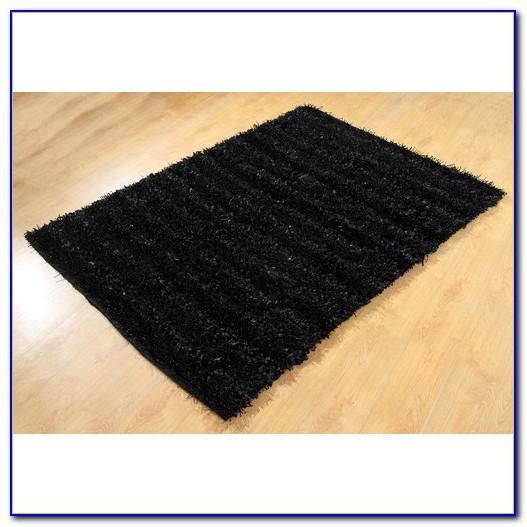 Black Shag Area Rug