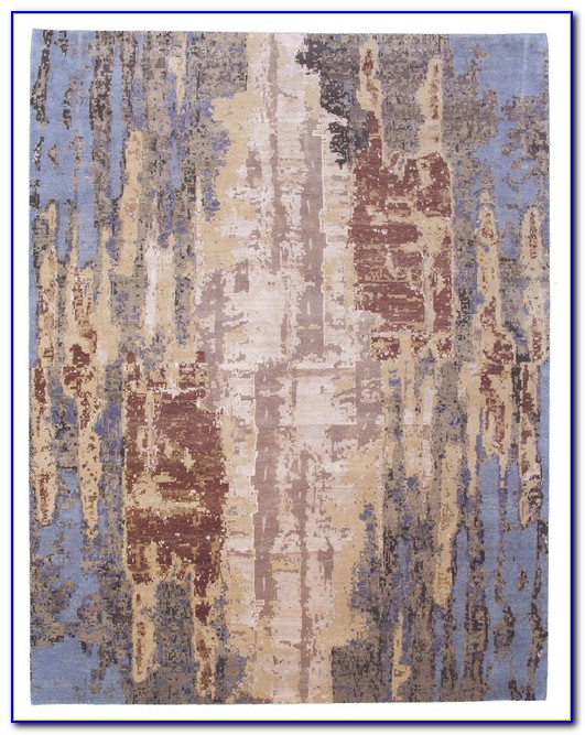Blue Abstract Area Rugs