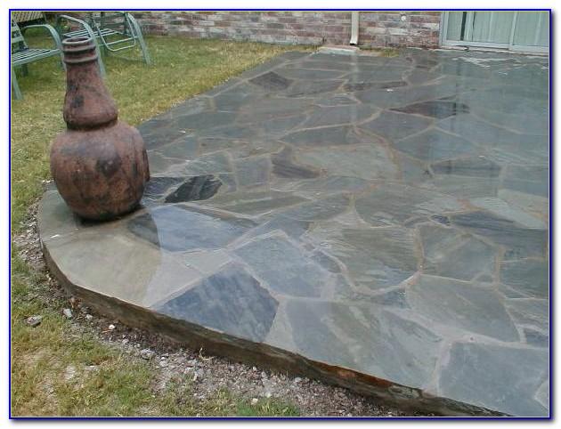 Blue Slate Stone Patio