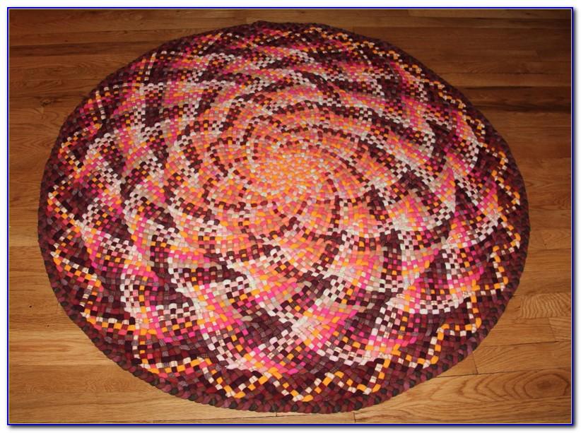 Braided Wool Rugs Round