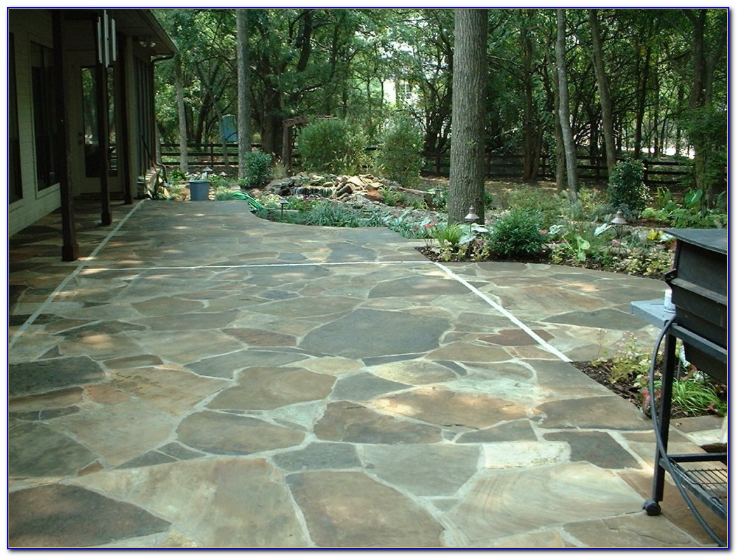 Building A Flagstone Patio On A Slope