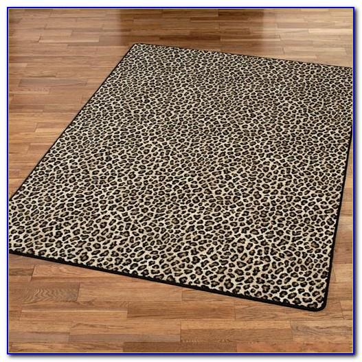 Cheetah Print Bath Rugs