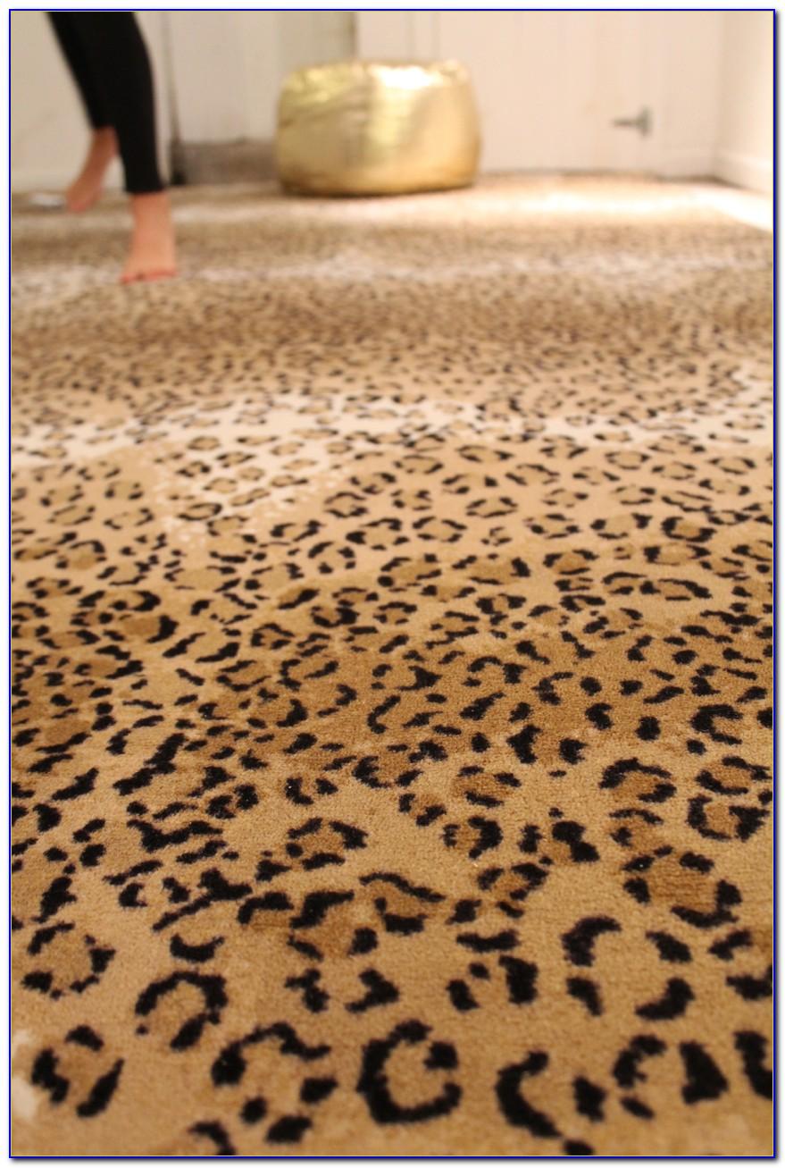 Cheetah Print Rug Pottery Barn