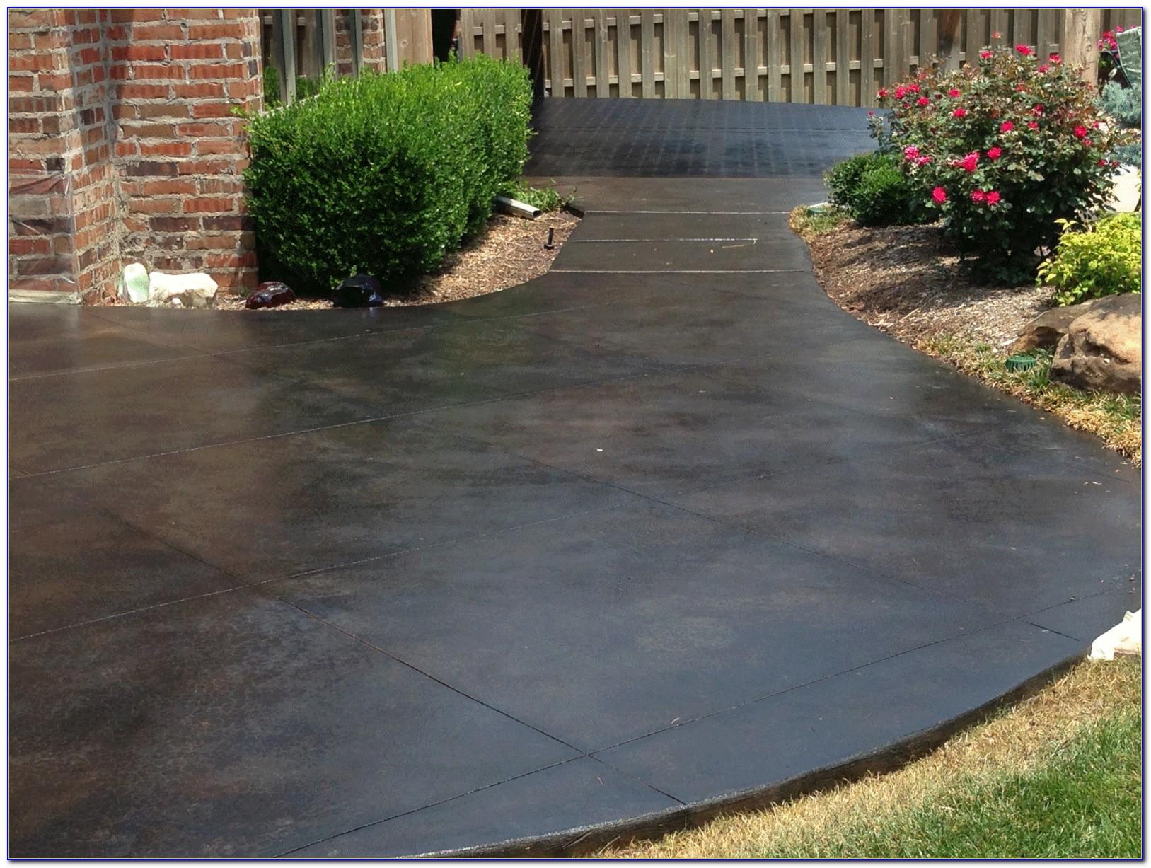 Concrete Patio Stain Designs