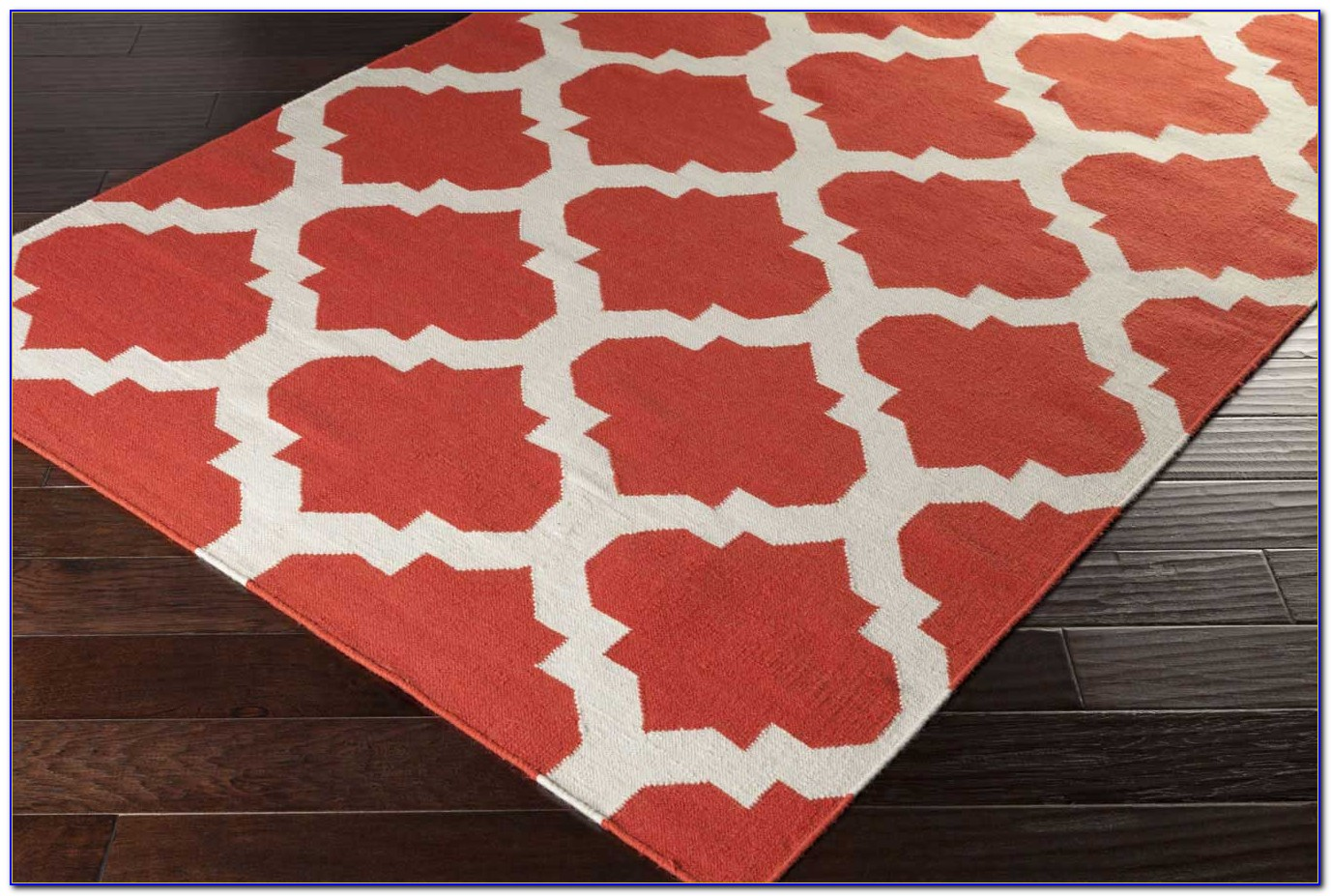 Coral Area Rug 5x7