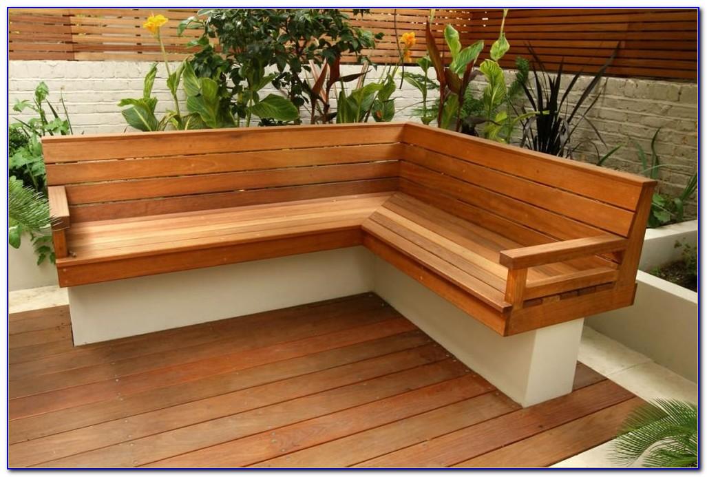 Corner Patio Bench Plans