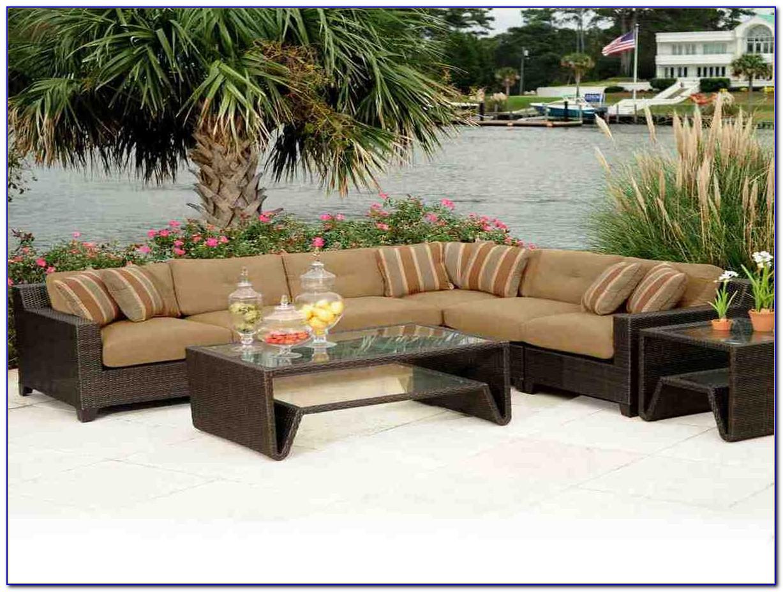 Dark Brown Wicker Patio Furniture