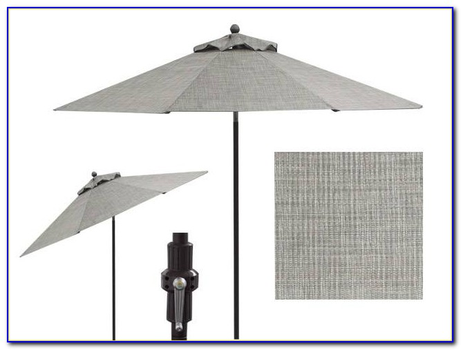 Dark Grey Patio Umbrella