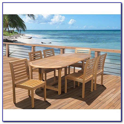 Extendable Patio Table Wood