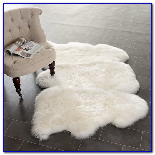 Fake Furry White Rugs