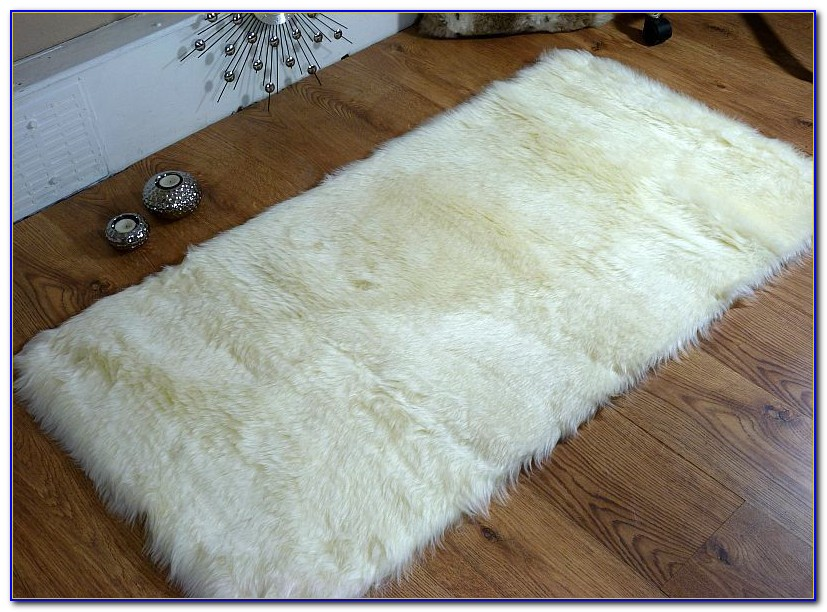 Faux Fur Rug White