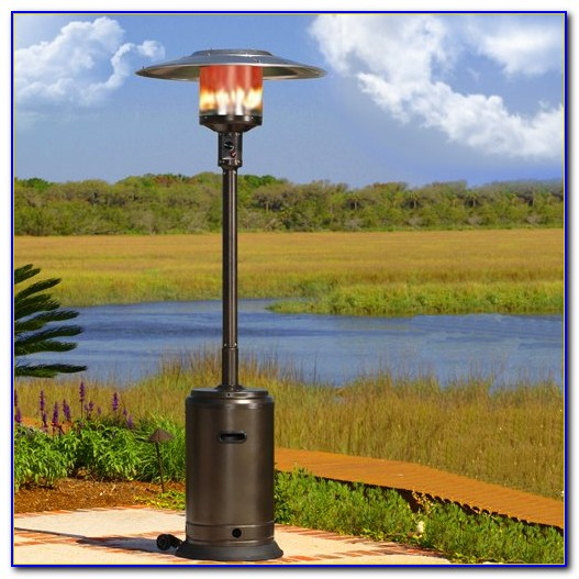 Fire Sense Commercial Patio Heater Stainless Steel And Black Powder Coating